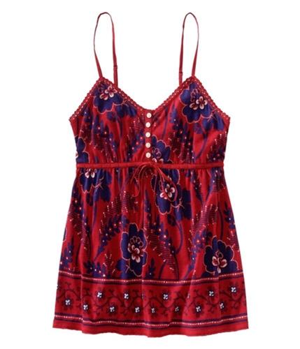 Aeropostale Womens Floral Print 's Cami Tank Top redclassic XS
