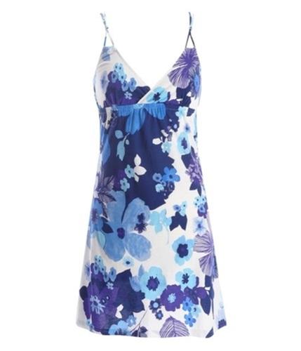 Aeropostale Womens Floral Print Summer Sundress navyniblue XS
