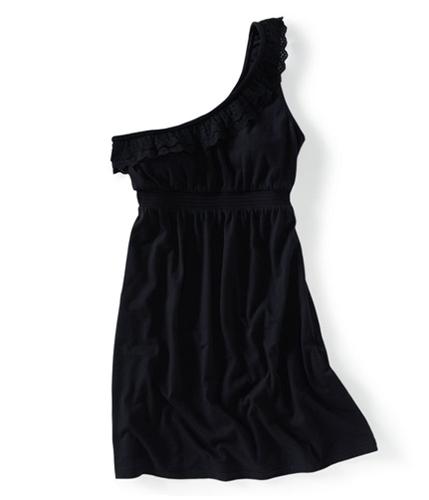 Aeropostale Womens 1 Strap Eyelet Design Summer One Shoulder Dress 001 XS