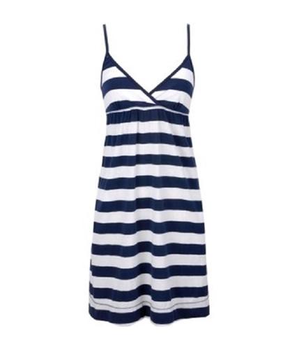 Aeropostale Womens V-neck Casual Stripe Tank Sundress navynightblue XL