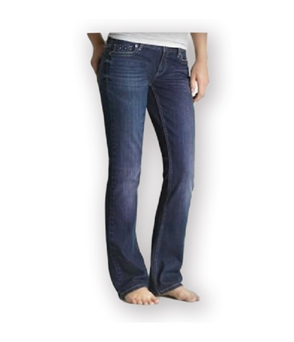 Aeropostale Womens Curvy Fit Boot Cut Jeans rinsedindigo 1/2x30