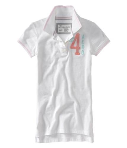 Aeropostale Womens Ath Dept 4 Polo Shirt bleachwhite S