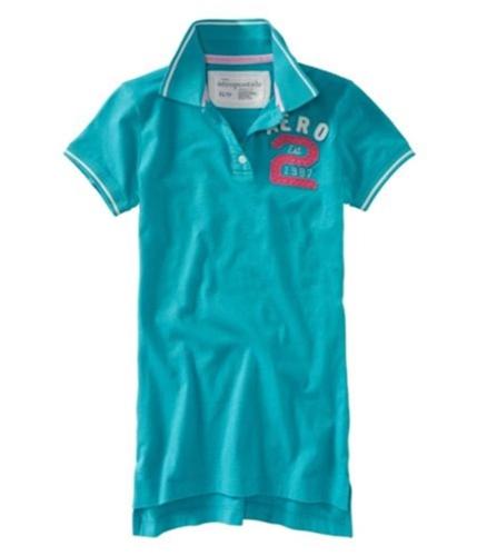 Aeropostale Womens Aero Est. 1987 Polo Shirt cleartgreen XS