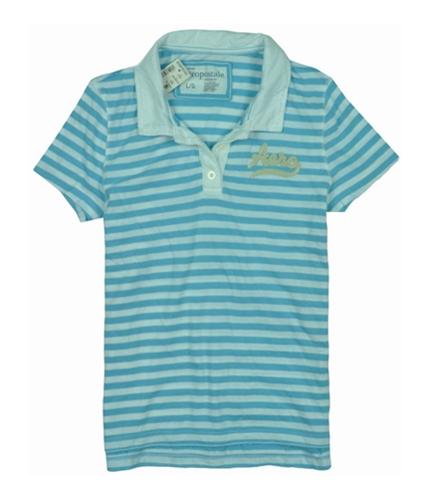 Aeropostale Womens Stripe Aero Polo Shirt blissfulblue M
