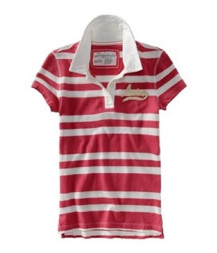 Aeropostale Womens Stripe Polo Shirt applebred M
