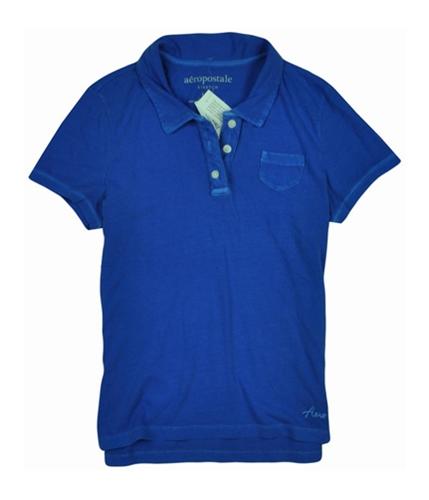 Aeropostale Womens Lightweight Polo Shirt morningblue L