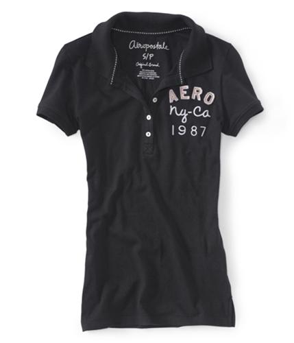 Aeropostale Womens Ny-ca 1987 Polo Shirt 001 M