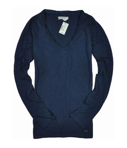 Aeropostale Womens V-neck Graphic T-Shirt blue M