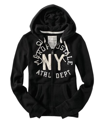 Aeropostale Womens Ny Athl Dept Hoodie Sweatshirt black XS