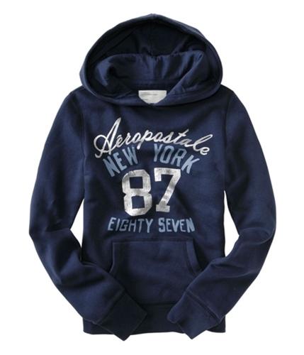 Aeropostale Womens New York 87 Hoodie Sweatshirt navynightblue XS