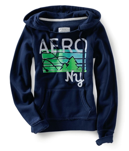 Aeropostale Womens Sparkley Hoodie Sweatshirt navynightblue S