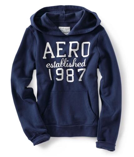 Aeropostale Womens Aero Established 1987 Hoodie Sweatshirt navyniblue XS