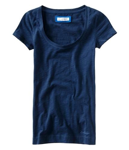 Aeropostale Womens Solid Aero Scoop Neck Basic T-Shirt 413 XS
