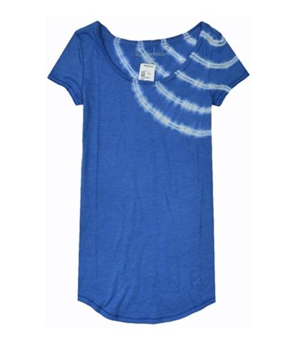 Aeropostale Womens Slanted Tie-dye Graphic T-Shirt lapisblue XS