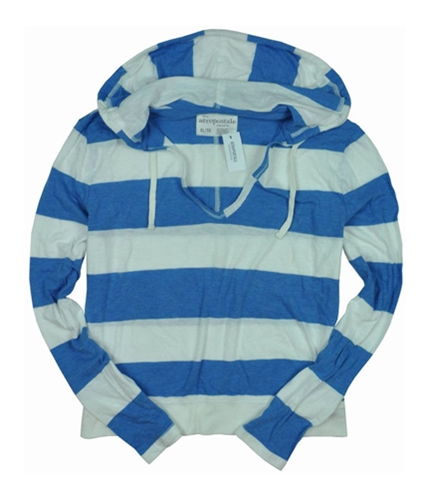 Aeropostale Womens Hoodie Stripe Graphic T-Shirt heavenlyblue XL