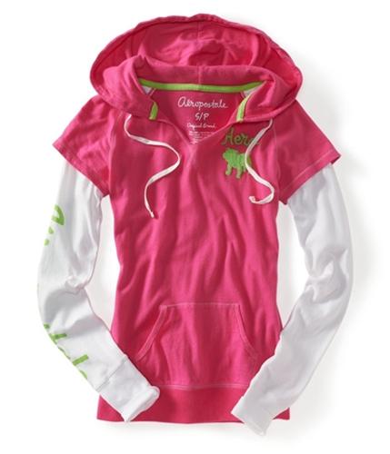 Aeropostale Womens Long Sleeve Hoodie Sweatshirt 662 XS
