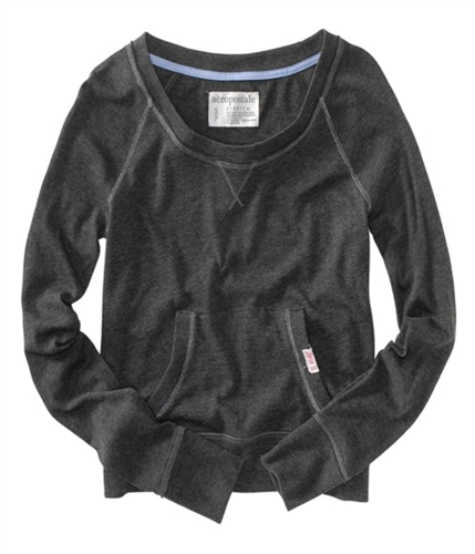 Aeropostale Womens Lightweight Kangaroo Pocket Cardigan Sweater charcoalgray M