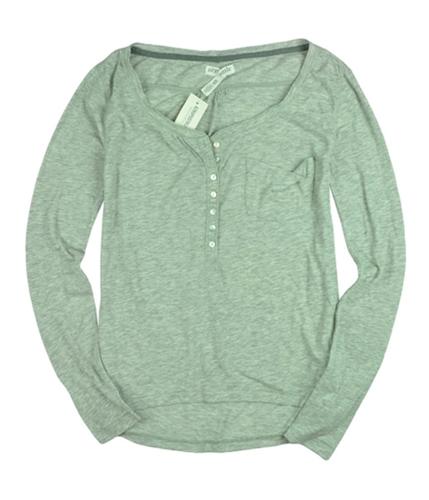 Aeropostale Womens Long Sleeve Henley Shirt lththrgrey XS