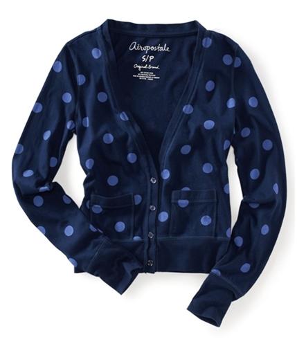 Aeropostale Womens Polka Dot Cardigan Sweater 413 S