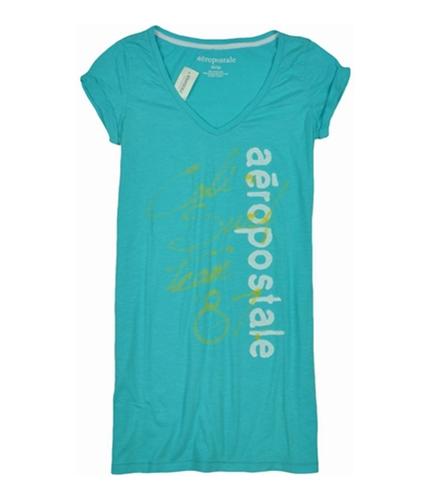 Aeropostale Womens Aero Pajama Sleep T-shirt waveblue M