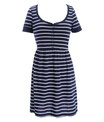 Aeropostale Womens Stripe Button Sundress navyniblue XS