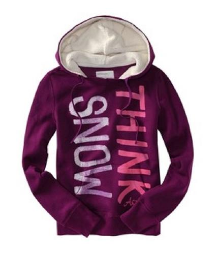 Aeropostale Womens Think Mons Glittery Hoodie Sweatshirt ltpink XL