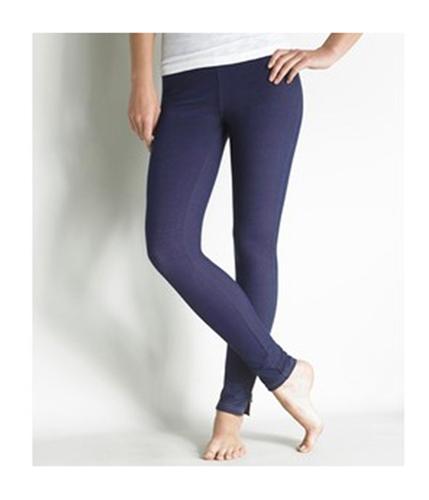Aeropostale Womens Zippered Leg Skinny Stretch Jeggings indigoblue M/34