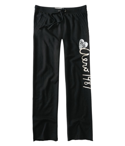 Aeropostale Womens Boyfriend Fitlounge Casual Sweatpants black XS/32