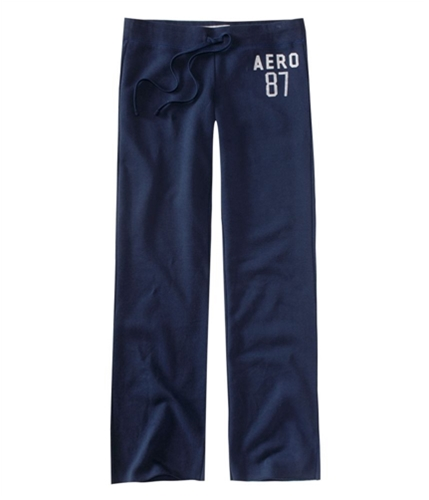 Aeropostale Womens Straight Leg Casual Sweatpants navyblue XS/32