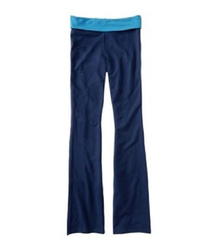 Aeropostale Womens Foldover Yoga Pants navyni XL/34