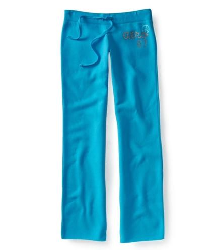 Aeropostale Womens Glitter Print Classic Casual Sweatpants turquoi XS/32