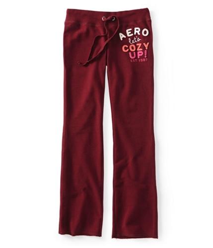 Aeropostale Womens Let's Cozy Up Fit & Flare Casual Sweatpants auburn L/32
