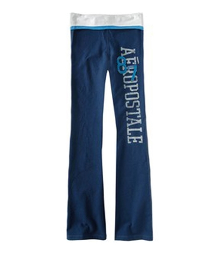 Aeropostale Womens 87 Yoga Pants navynightblue M/32