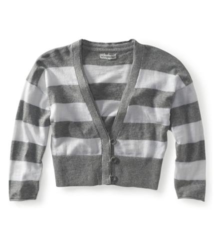 Aeropostale Womens Cropped Stripe Cardigan Sweater 052 XS