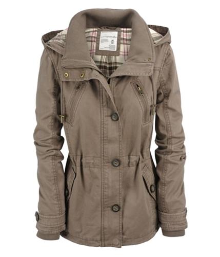 Aeropostale Womens Hoodie Field Jacket brownfrappuccino L