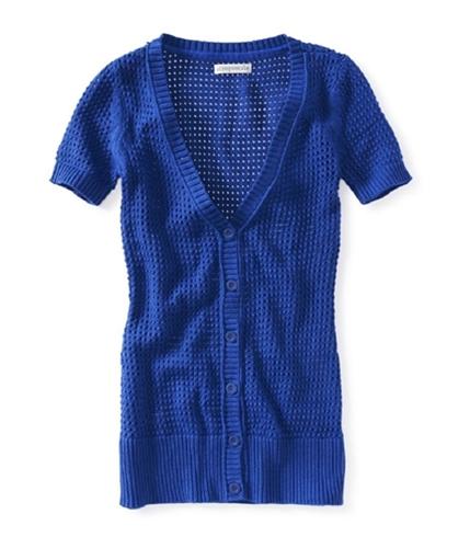 Aeropostale Womens Eyelet Button Down Cardigan Sweater 488 XS