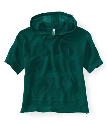 Aeropostale Womens Stripe Kint Popover Hooded Sweater 349 XS