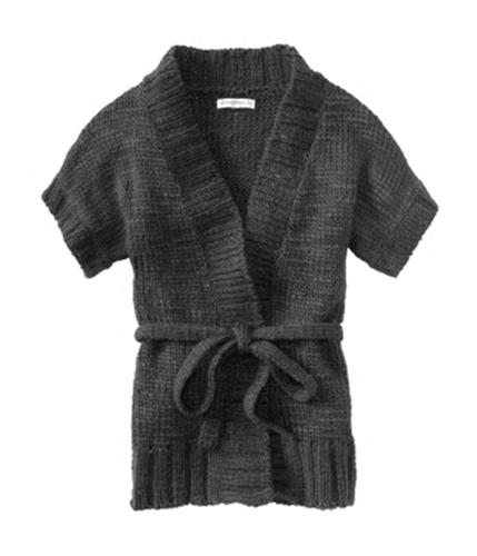 Aeropostale Womens Colared Knit Cardigan Sweater charcoalgray XS