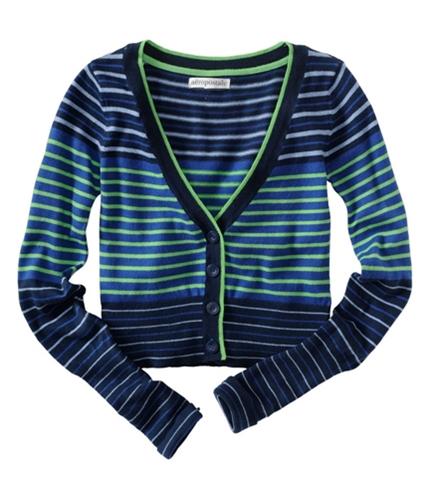 Aeropostale Womens Multicolor Cardigan Sweater navynigreen XS