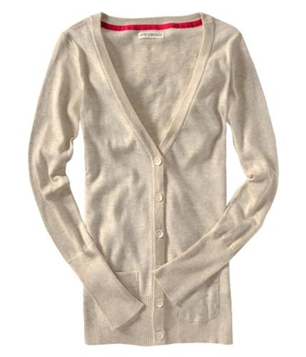 Aeropostale Womens Lightweight Cardigan Sweater oatmeal S