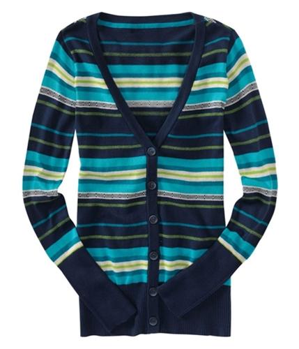 Aeropostale Womens Button Up Knit Cardigan Sweater navynightblue XS