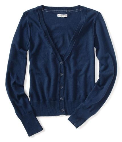 Aeropostale Womens Lightweight Cardigan Sweater navynightblue XS