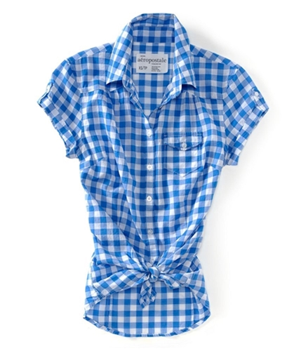 Aeropostale Womens Light Weight Seehrough Button Up Shirt 793 XS
