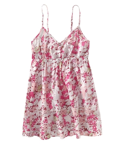 Aeropostale Womens Floral Babydoll Cami Tank Top berry XS