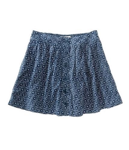 Aeropostale Womens Button-front Mini Skirt blues XS