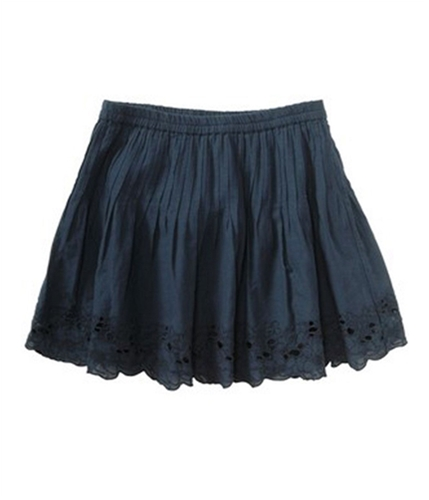 Aeropostale Womens Pleated Lace Mini Skirt truena S