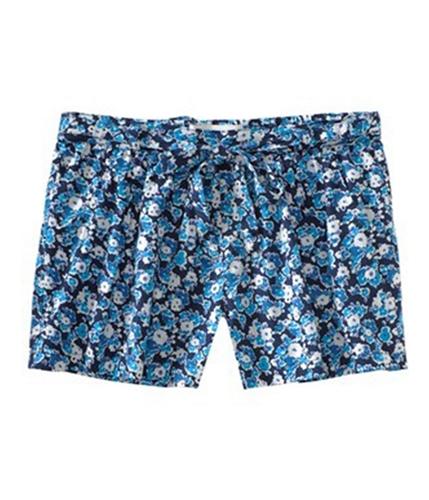 Aeropostale Womens Floral Print Waistie Casual Mini Shorts navyniblue XS