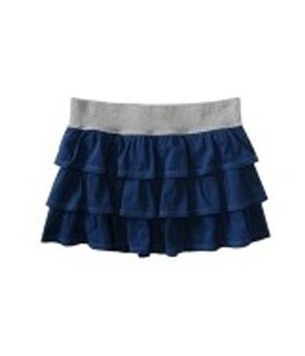 Aeropostale Womens Layered Ruffle Mini Skirt navyniblue XS
