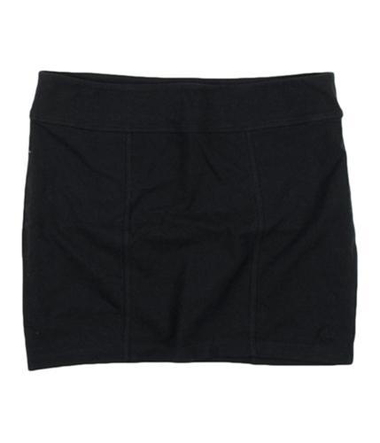 Aeropostale Womens A87 Solid Stretch Mini Skirt black XS