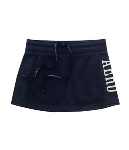Aeropostale Womens Aero Fleece Mini Skirt navyniblue M